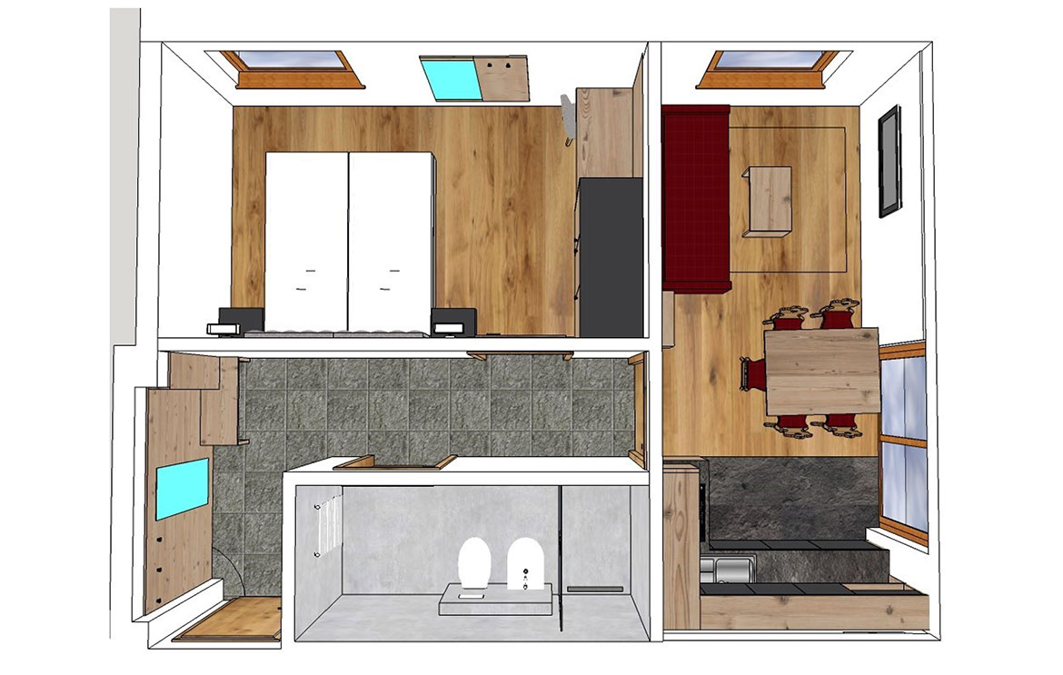 Sketch apartment 3
